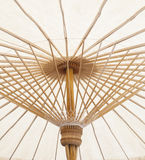 Under view of hand craft clothes umbrella structure of nothern t Royalty Free Stock Photos