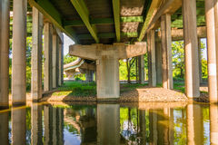 Under view of highway Stock Images