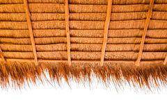 Under view of thatched roof royalty free stock image