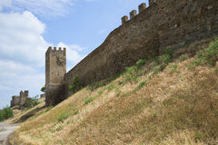 Under the walls of the Genoese fortress Royalty Free Stock Photography