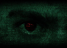 Eye in binary code Royalty Free Stock Images