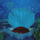 Under water. Illustration of a shellthrone under water Royalty Free Stock Photography
