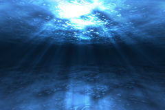 Under Water. Sun shines under water created in photoshop Stock Photography