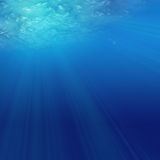 Under water. Abstract sunshine through the water Stock Images