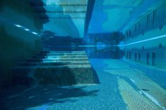 Under water in beautiful tile swimming pool in Capri, Italy, Europe Royalty Free Stock Photos