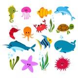 Sea life cartoon Royalty Free Stock Photo