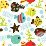Under Water Fun Pattern Stock Photo