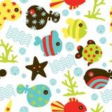 Under Water Fun Pattern Stock Photo