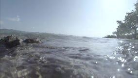 Under the water. Indian Ocean video low contrast. Desaturate stock video