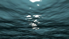 Under Water Loop. A High Res Simulation of being Under Water with the Sun Shining through the rippled surface stock video