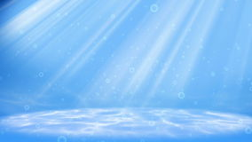 Under water scene. Animation background loop stock footage