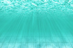 Under water scene in pool Royalty Free Stock Images
