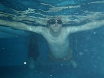 Under water sport swimming pool blue water Royalty Free Stock Images