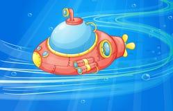 Under water submarine. Illustration of under water submarine Royalty Free Stock Image