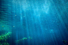 Under water sunlight beams and rays Stock Photos