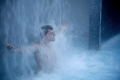 Under waterfall Stock Photos