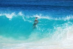 Under The Wave Royalty Free Stock Photo