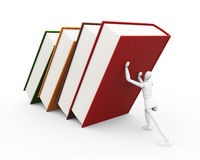Under weight of knowledge Stock Image