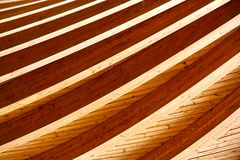 Under Wooden Roof Stock Photo