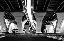 Under the Woodrow Wilson Bridge, in Alexandria, Virginia. Stock Image
