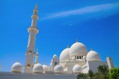 underbar Abu Dhabi moské fotografering för bildbyråer