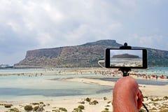 Underbar Balos lagun, Kreta - Grekland royaltyfri fotografi