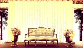 Underbar bröllopetappgarnering arkivbild