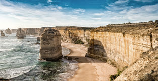Underbar flyg- sikt av 12 apostlar i Victoria, Australien Arkivbilder