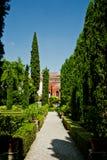 Underbar Giusti trädgård royaltyfria foton