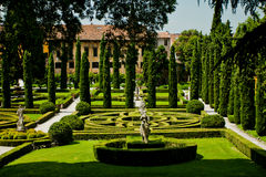 Underbar Giusti trädgård Royaltyfri Bild