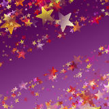 Underbar illustration för julbakgrundsdesign med stjärnor Royaltyfri Foto
