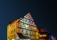 Underbar jul som markerar i Colmar, Alsace, Frankrike Arkivbilder