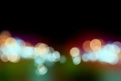 Underbar nattbokeh gör suddig bakgrund Fotografering för Bildbyråer