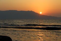 Underbar solnedgång Royaltyfri Bild