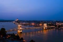 Underbar stad av den Budapest bilden som är bird's-eye. Arkivbilder