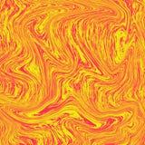 Underbar vätskemarmor för lavabakgrund Kombinationen av gult och rött Vätskeabstrakt begrepp för orange tapet vektor illustrationer
