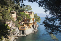 Underbar villa nästan Portofino Italien Royaltyfri Foto