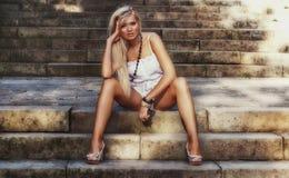 Underbara blonda kvinnor Arkivfoton
