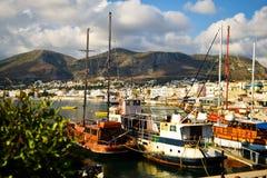 Underbara Grekland Grekferier Aftonporten av Grekland arkivbilder