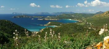 underbart för sardinian södra sikt för kust västra fotografering för bildbyråer