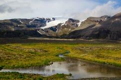 Underbart icelandic naturlandskap arkivfoto