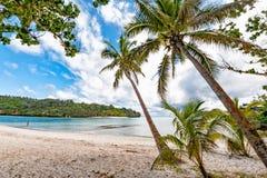 Underbart landskap av ön för vava` u i Konungariket Tonga arkivfoton