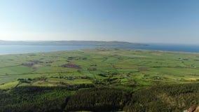 Underbart landskap av Binenenagh i norr Irland arkivfilmer