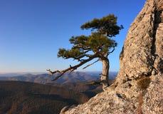 Underbart landskap av den bergiga terrängen i Krimet Arkivbild