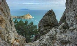 Underbart landskap av den Crimean naturen Royaltyfria Bilder