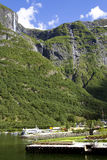Underbart landskap i Lysefjord Royaltyfri Fotografi