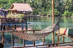 Underbart ställe för avkoppling i ön Koh Chang, Thailand Royaltyfri Bild