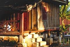 Underbart traditionellt hus i Laos Arkivbild