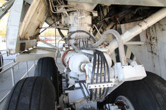 Undercarriage. Part of the undercarriage of a passenger aircraft Royalty Free Stock Photos