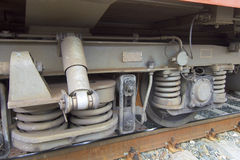 Undercarriage of a train. Detail of a undercarriage of a train Royalty Free Stock Photos